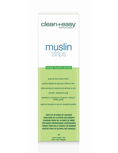 Clean & Easy Muslin Large Pot Wax Remover Cloths 100 st